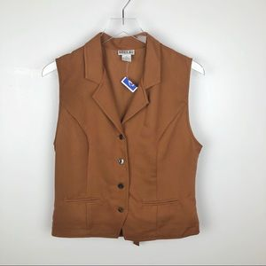 Robbie Bee Button Up Waistcoat Light Brown